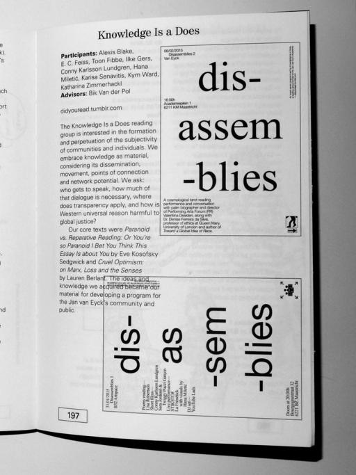 WWFG dis-assem-blies (2014–2015)